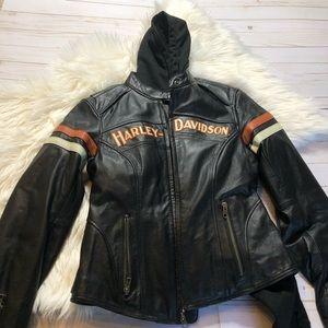 Harley Davidson Ladies Leather Jacket & Hoodie